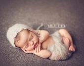 PDF Crochet Patterns - newborn photography prop dainty blossom mohair wrap and bonnet set #93