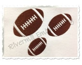 Small Football Machine Embroidery Design - 3 Sizes