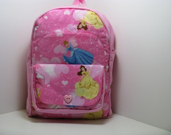 Cinderella and Belle Preschool Backpack