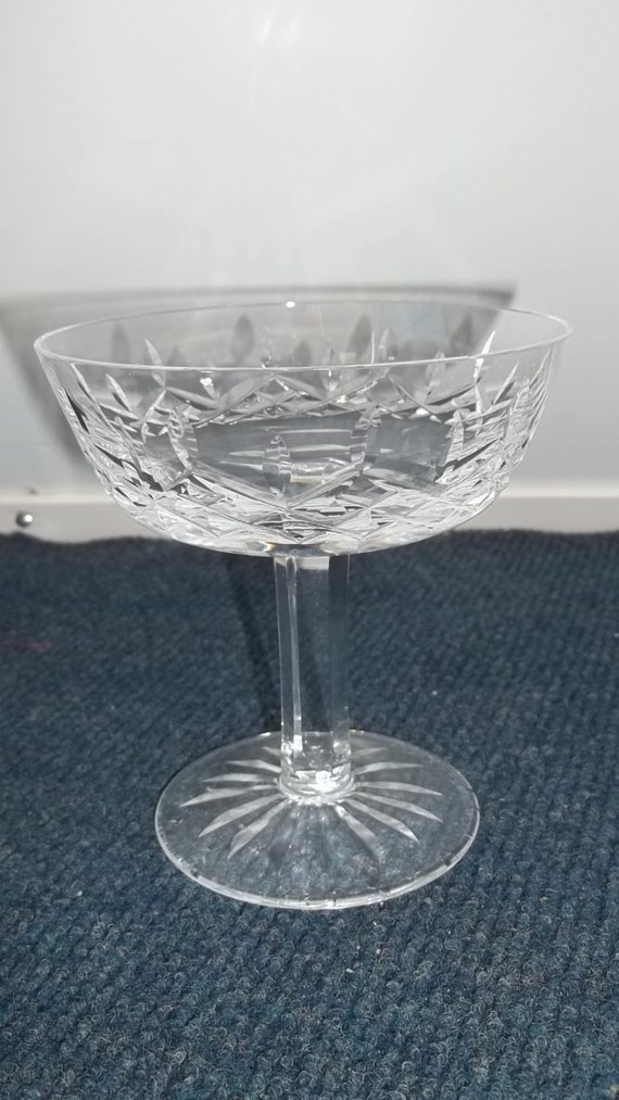 Vintage waterford crystal lismore coupe champagne glass tall - Waterford champagne coupe ...