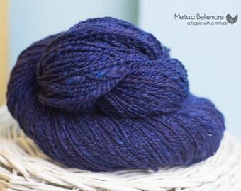Blueberry Cobbler : Handspun yarn - Merino wool - 255 yards / Sport / 2 ply