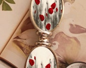 Red Poppy Flowers Nature Silver Metal Letter Opener Home Office Trendy Cool