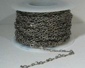 Fine Teardrop Chain - Antique Silver - CH59 - Choose Your Length