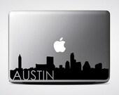 Austin Skyline Macbook Decal #3 / Macbook Sticker / Laptop Decal