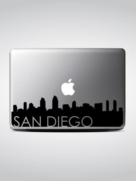 San Diego Skyline Macbook Decal #3 / Macbook Sticker / Laptop Decal