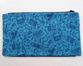 Blue Music Panel to Zip onto Bag