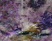 Custom Purple Trees Thank you cards