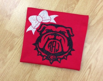 Georgia bulldogs vinyl shirt