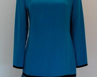 Vintage BLUE Sophisticated FLIRTY Dress Size 6