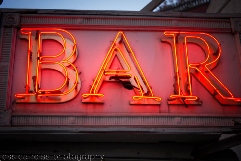 neon bar sign photograph bar decor vintage rustic industrial home decor red bar - Bar Decor