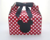Set of 5 Mickey Mouse Favor Boxes - Mickey Mouse Party Treat Boxes
