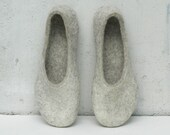 Felted slippers Women slippers Home shoes Charcoal grey Dark grey Beige Natural Unisex Valenki Women winter shoes 100% wool Woolen clogs