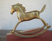 Vintage Solid Brass Rocking Horse SALE Do Not Buy unless you are VIV/Australia