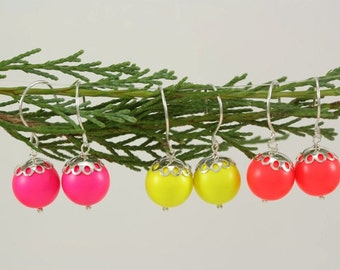 Our Favorite Everyday Beaded Earring in Neon Colors and Sterling Silver