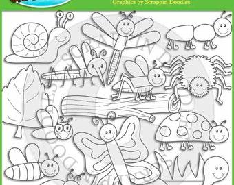 Bugs Bugs Bugs Line Art