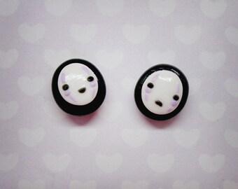 No Face stud earrings - Studio Ghibli Spirited Away Handmade Tribute