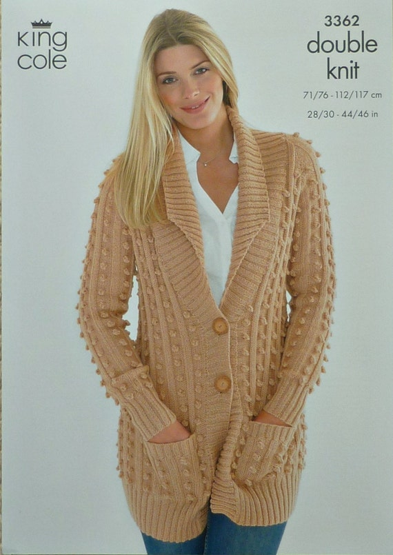 Double Knitting Ladies Jacket Pattern : Womens Knitting Pattern K3362 Ladies Long by ...