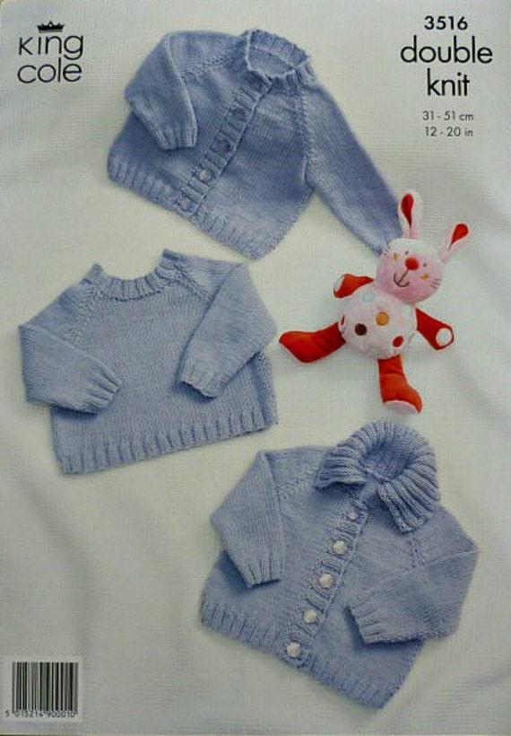 Knitting Pattern Round Neck Jumper : Baby Knitting Pattern K3516 Babies Round Neck Jumper