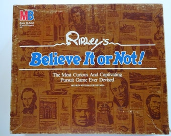 Vintage Ripley's Believe It or Not  Board Game 1984
