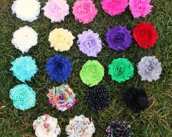Shabby Chic Flower Clip - Flower Hair Clip - Flower Hair Clips - Chiffon Flower