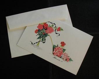 Custom Card - Birthday Flower Shoe 5 1/2 x 8 1/2
