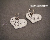 Single Heart Charm Add On, Keychain Add On, Heart Charm, Stainless Steel, Personalized, Custom