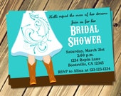 Cowgirl Boots Wedding / Bridal Shower Invitation Choose Your Color Print Your Own 5x7 or 4x6