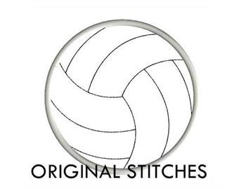 Volleyball Applique 6 Sizes Machine Embroidery Digital Design File  4x4 5x7 6x10 7x11 8x12