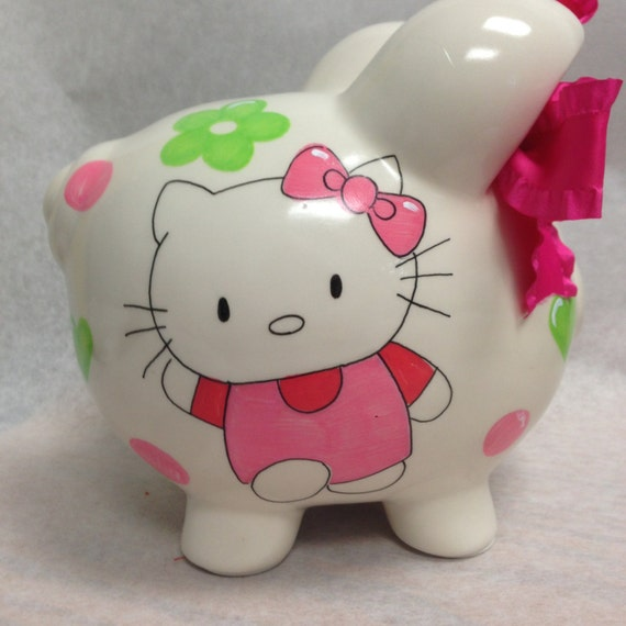 Personalized Piggy Bank Hello Kitty