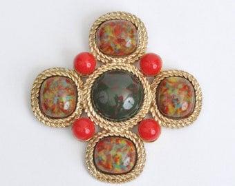 "Vintage Sarah Coventry ""Mosaic"" Brooch"