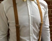 Faux Burlap Men's Suspenders