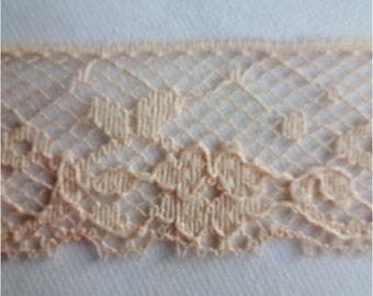 Vintage Peach Lace 13 yds