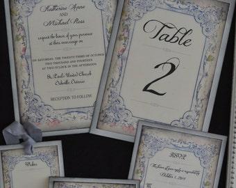 Shabby Chic Wedding Invitation Suite