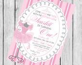 Ballet Birthday printable invitation, printable ballet invitation, Ballet Birthday, Dance Birthday,
