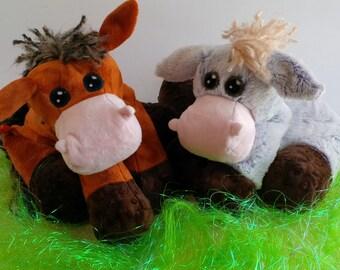 Unicorn, Horse, Donkey, Pony STUFFED ANIMAL Sewing Pattern - Digital Download