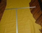 "Leather 80""x33""  Lemon Yellow DIVINE line Top Grain 20.25 sq ft Cowhide 2.5 oz / 1mm PeggySueAlso"