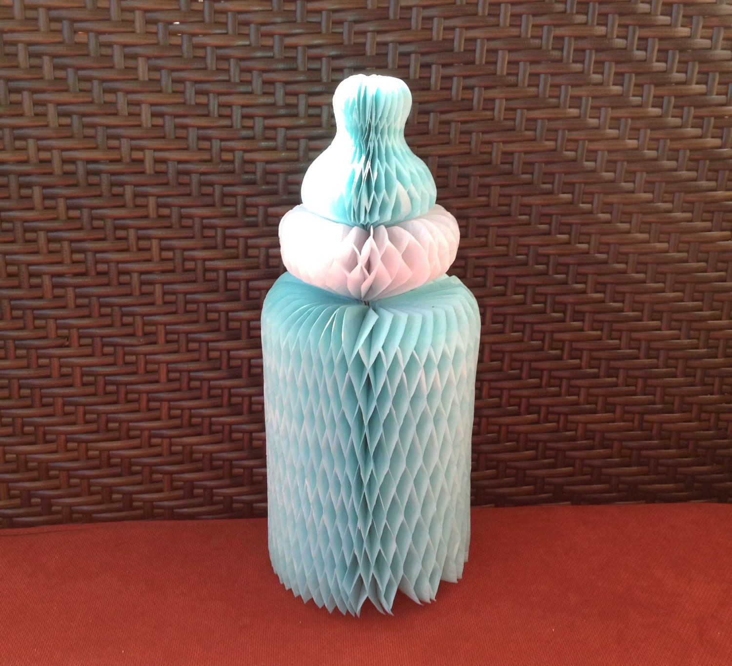 Sale blue honeycomb baby bottle paper decoration for baby for Baby bottle decoration