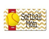 Personalized Softball Mom License Plate