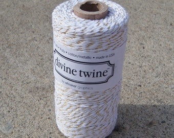 Divine Twine - New Gold Metallic Twist Bakers Twine - ALL Colors Available - ONE Color Choice - Your Choice of Length
