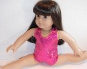 Doll Clothes Leotard Hot Pink Sparkle Fits Most 18 Inch Dolls Dance Gymastics
