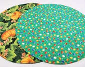 Table Runner, for Halloween / Thanksgiving and Christmas, Round, Quilted, Handmade, Reversible, 20 in. dia.