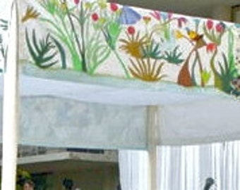 Chuppah – Large Size, Hand-painted White Silk Wedding Canopy