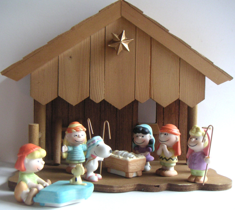 Charlie Brown Christmas Nativity Scene