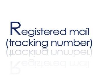 Registered Mail(tracking number)