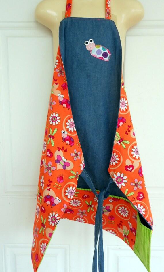 Personalized Art Aprons, Personalized Ladybug apron, Dragonfly Art Smock, Birthday girl apron, Art Smock, Bees Girl