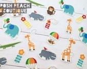 DIY Iron on Appliques  (4) - Modern Jungle Animals