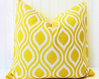 Yellow Pillow Cover, Throw Pillow, Decorative Pillow, Yellow Pillows, Accent Pillow, Cushions