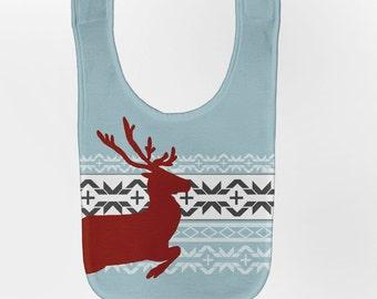 Reindeer Baby Bib - Nordic Style Christmas