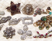 Mixed Lot Antique and Vintage Rhinestone Jewelry