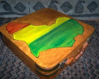 Africa Art Box - Rastafari Africa Artist Storage Box